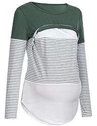 01dbe3838b5a2 FOANA Womens Maternity Nursing T Shirt Pregnant Breastfeeding Wrap  Sweatshirt Top
