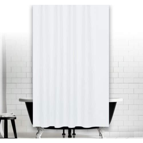 Zethome Cortina Baño 180x200 cm Blanca Original Antimoho