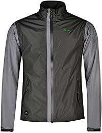 Slazenger Mens Waterproof Golf Jacket Lightweight Chin Guard Full Zip Top