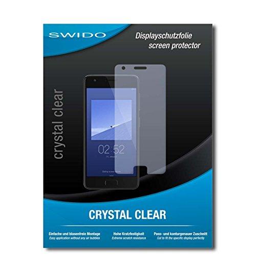 SWIDO Schutzfolie für Lenovo ZUK Z2 [2 Stück] Kristall-Klar, Hoher Härtegrad, Schutz vor Öl, Staub & Kratzer/Glasfolie, Bildschirmschutz, Bildschirmschutzfolie, Panzerglas-Folie