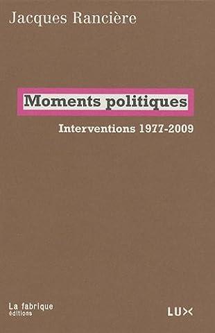 Moments politiques - Interventions