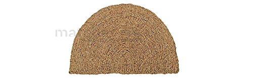 matches21 Fußmatte Fußabstreifer Kokos Wendematte Uni einfarbig Natur halbrund Kokosmatte 50x80x2,5cm