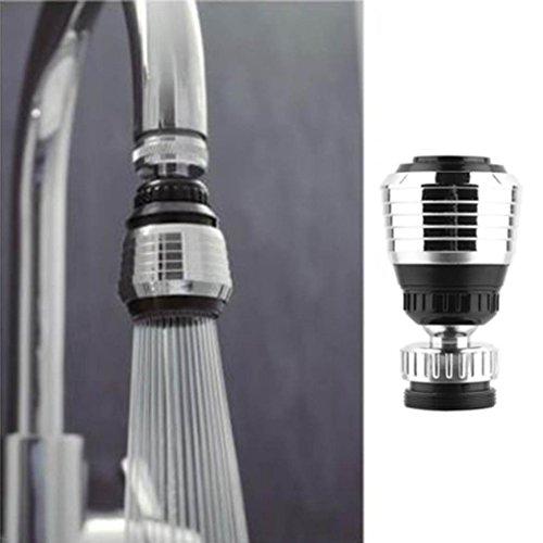 360drehen Swivel Wasserhahn Düse Torneira Wasser Filter Wasserhähne Adapter, Wasser Küche Badezimmer von vneirw, schwarz