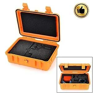 HGYBEST imperméable à la poussière et professionnelle Boîte Résistant à la pression de sécurité pour GoPro 2/3/3 + - Orange