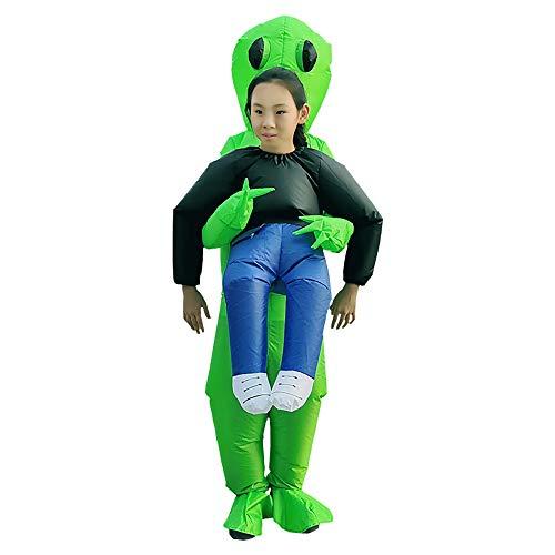 (Joylora Aufblasbares Kostüm für Unisex Alien Cosplay-Kostüm Requisiten Fantasiekostüm für Kinder Aufblasbare Halloween Kleidung Walking Show Lustige Great Illusion Fancy Dress Outfit One Size fits)