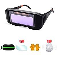 CHAIZIYU Gafas de soldar Oscurecimiento automático Argón Arco Soldadura Gafas Soldador Protección Ocular Especial Máscara antirreflejo