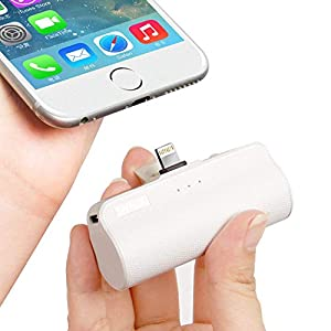 iWALK 3350mAh Móvil Portátil Batería Externa, Ultra-Ligera Power Pack Compacto Power Bank Cargador Compatible para iPhone 5 6 7 8 Plus X SE XS y así