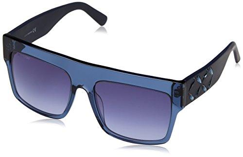Swarovski sk0128-5690w occhiali da sole, blu (shiny gradient blue), 56 donna