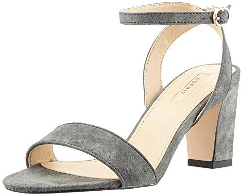 ESPRIT Damen Bless Sandal Offene , Grau (015 Gunmetal), 38 EU