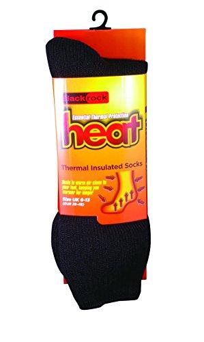 Blackrock Men's Chaussettes thermiques Heat-Noir - 12 cm