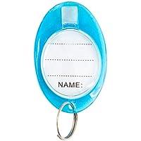 YeahiBaby 50pcs Etiquetas de Llavero con Etiquetas Etiquetas de Etiquetas de identificación de Equipaje Llavero