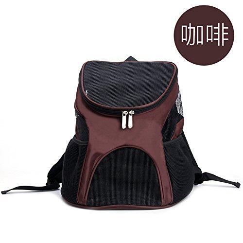 Umhängetasche, Brust - Tasche, Pet - Tasche, Tragbare Pet - Tasche, Größe, 30 * * 33Cm.,Kaffee