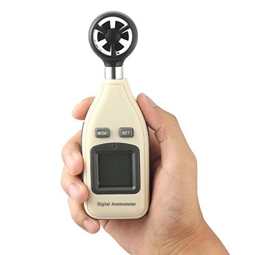 Galleria fotografica Ulable mini bilancia digitale portatile velocità del vento Meter anemometro termometro