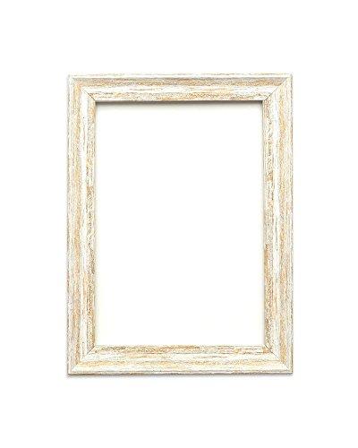 Löffel Weiß Distressed - 7 x 5 Zoll - Vintage Bilderrahmen Industrie-Look im Shabby Chic/Camouflage Foto-/Posterrahmen - Die Rahmengrösse beträgt 32 mm breit und 18 mm tief (Weiß 5x7 Bilderrahmen)