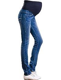 ec3c78cf9efe HX fashion Jeans Premaman Skinny Stretch Denim Blu maternità Pantaloni  Gravidanza Chic Pants Jeans Premaman Maternity