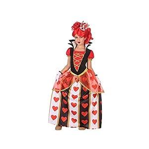 Atosa-56873 Disfraz Reina Corazones Color Rojo 10 a 12 años (56873