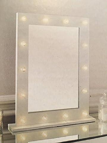 New Hollywood Schminktisch-Spiegel mit LED-Beleuchtung, ca. 40x 50x