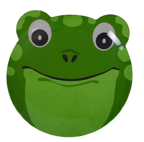 Epicurean 39RQ8110F Melamine Friendly Faces Frog Design Plate, 25 x 21.5 x 1.7 cm, Green