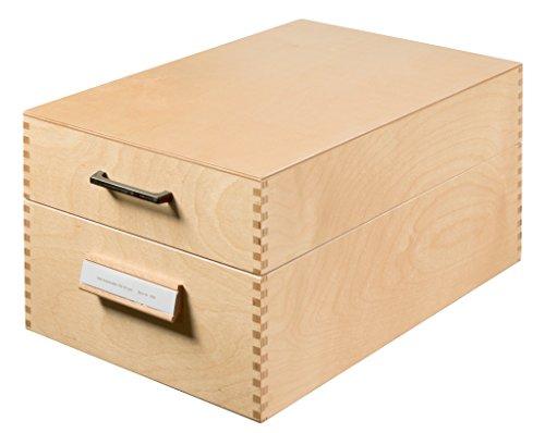 HAN Karteikasten 1005 DIN A5 quer aus Holz / Hochwertige Lernkarteibox aus edlem & robustem Naturholz für 1.500 DIN A5 Karteikarten / Ideal zum Vokabeln lernen & als Lehrmaterial