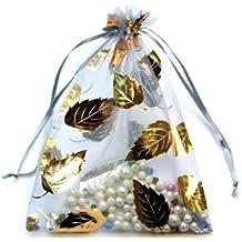 Confezione di 10 sacchetti regalo in Organza, 17 x 23 cm, colore: grigio argento, D0141