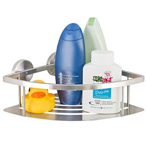 Linea bagno piazza di bremermann® - cestello angolare da doccia in acciaio