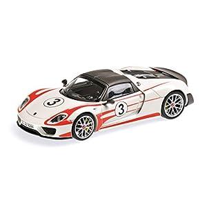 Minichamps 410062131 Porsche 918 Spyder Weissach - Escala 1:43 (Modelo Fundido de 2013), diseño de Salzburg Racing