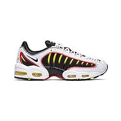 Nike Air Max Tailwind IV Herren Running Trainers AQ2567 Sneakers Schuhe (UK 10 US 11 EU 45, Black White Bright Crimson 109)