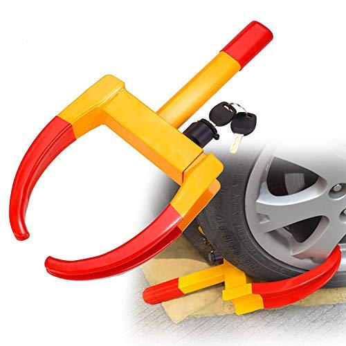 Sailnovo Radkralle Wohnwagen Parkkralle Anhänger Reifenkralle Radschloss,Diebstahlsicherung, Radsicherung von Auto,Motorrad Sicherheitsschloss 315 mm mit 2 Schlüsseln (2 Schlüsseln) (Truck Felgen 17zoll)