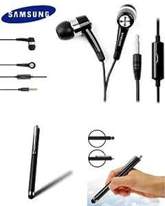 Kit piéton SAMSUNG EHS44 avec écouteurs intra auriculaire Micro stéréo ORIGINE Constructeur + STYLET ecran tactile capacitif de marque Access-Discount