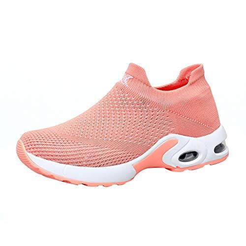 KERULA Women Shoes, Frauen QualitäT Wildleder Fliegende Webart Schuhe Luftkissen Turnschuhe Sport Low Top Running Shoes Sportschuhe Damenschuhe und Laufschuhe Elastische Sneakers