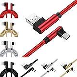 Die besten NINTENDO Freund Ideen - [4-Pack] rechtwinklig USB Typ C Kabel, 6ft L-förmiges Bewertungen