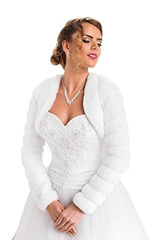 Boléro de mariée veste cape de mariée étole châle manteau manche longue boléro doublure intégrale