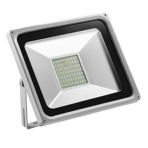 TEquem Kaltweiß LED Strahler 10W 20W 30W 50W 100W 150W 200W 300W 500W LED Wandstrahler Lampe Außenstrahler Aluminium Flutlicht Fluter 220V IP65 (50W) (Beleuchtung Flutlicht Landschaft)