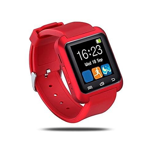 U8 Wasserdichte OLED Touch Screen Fitness Fitness Tracker Pedometer für IOS und Android Rot