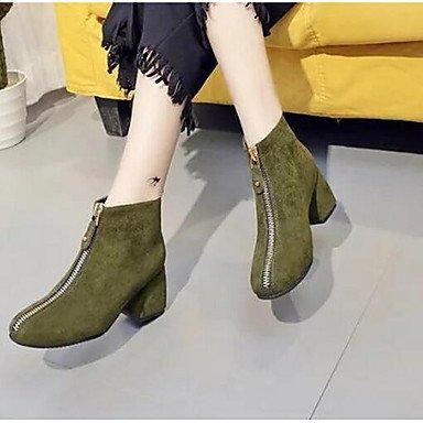 Stivali da donna Comfort Uomo Primavera Casual Comfort Army Green Nero Flat Black