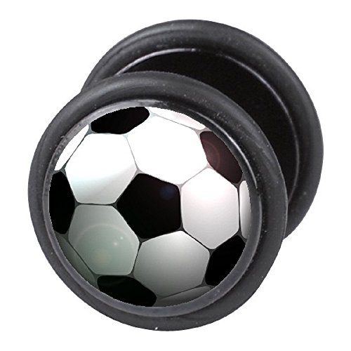 Fake Ohr-Piercing Schmuck Ohr-Plug Ohrstecker Fußball
