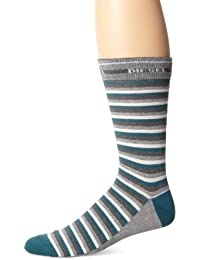 DIESEL - CHAUSSETTES RAYEES VERTES GRISES FRESH & BRIGHT - Rayé - Homme