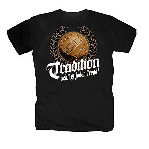 shirtmachine Fussball, Tradition Shirt, Schwarz, 3X-Large