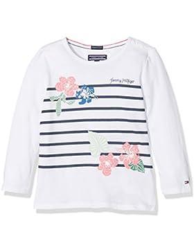 Tommy Hilfiger Mädchen Langarmshirt M Flower Stripe CN Knit L/S