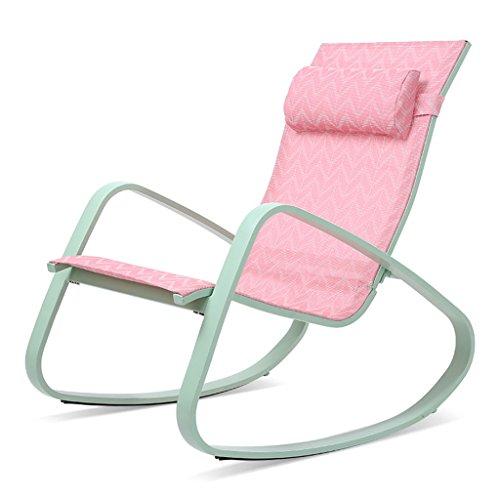 Schaukelstuhl Tatami Liege faul Freizeit Stuhl Balkon Sessel Schaukelstuhl American Mittagspause Stuhl, tragfähig 120kg oder mehr, mit...