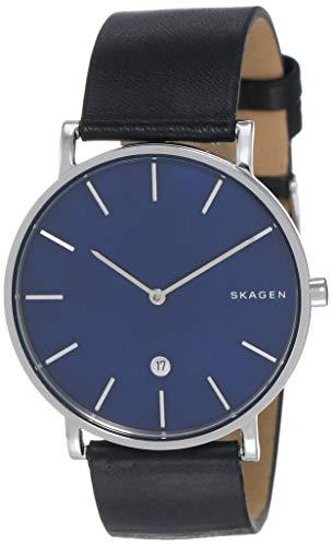 Skagen Herren Analog Quarz Uhr mit Leder Armband SKW6471