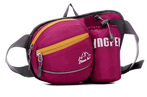 5 All Sling-Rucksack Sling Bag Chest Pack Taschen HANDY Tasche Outdoor Sports Camouflage Trekkingrucksack als Radfahr Jogging-Rucksack Kettle Paket Rosa D