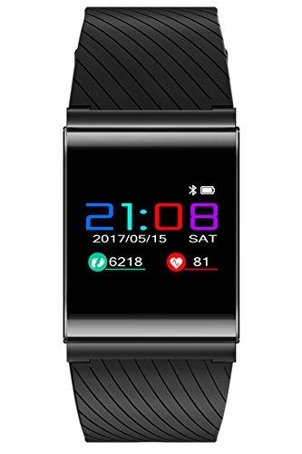 Loluka Kontinuierliche Herzfrequenz Blutdruck Armbanduhren Schrittzähler Sportuhren Wasserdicht Bluetooth Uhr Android Mehrsprachig
