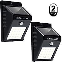 Luces de sensor de movimiento solar LED, IMIGY 3-en-1 Energía solar impermeable Luz de seguridad Lámpara de luz brillante exterior con 3 modos