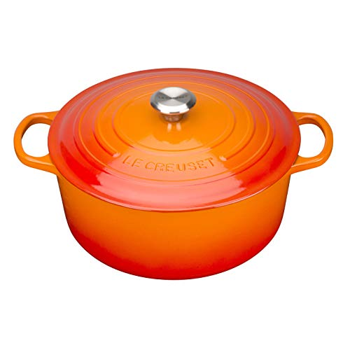 LE CREUSET Cocotte, Volcánico (Naranja), 22 cm