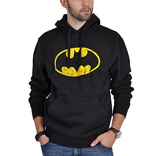 Batman logotipo sudadera jersey con capucha negro - XL
