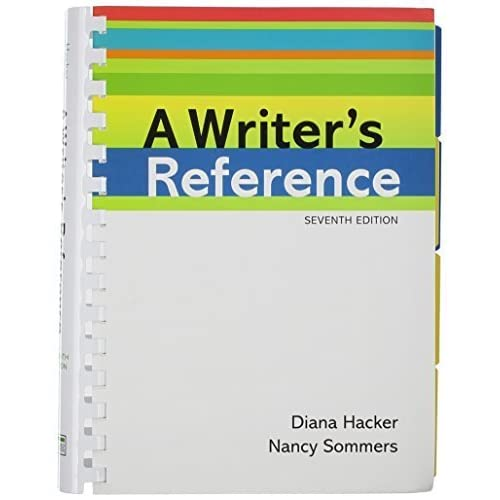 Writer's Reference 7e & CompClass by Diana Hacker (2011-06-01)