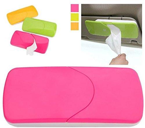 Preisvergleich Produktbild CUGLB Cool Auto Car Tissue Box Sonnenblende Gewebe Kasten Serviette Halter Taschentuch Clip Abpumpen Behälter (Rose Red)