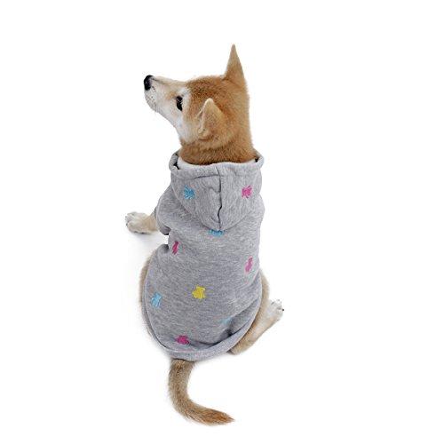 PAWZ Straßen-Hundehoodie-Katzen-Kleid-niedlicher Ball-Bärn-Entwurfs-Vlies-Gewebe Grau XXS