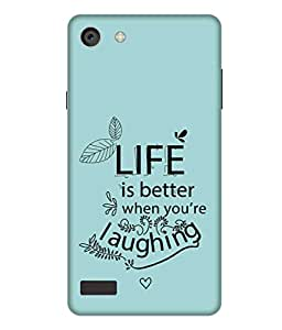 Print Opera Hard Plastic Designer Printed Phone Cover for Oppo Neo 7 - Happy Go Design